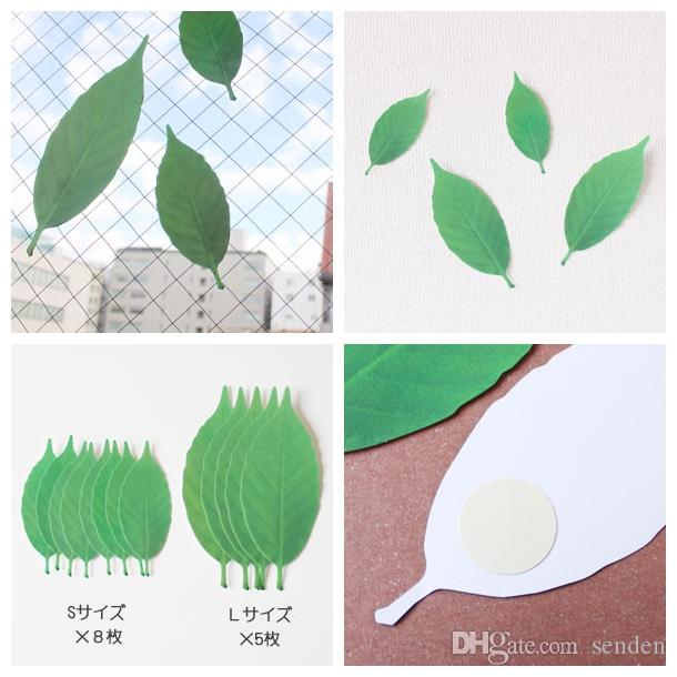Unique Design Leaf Thermometer +D Decorative Wall Decal The Leaves Temperature sensor Sticker For Decoration leaf termometer Induction gifts