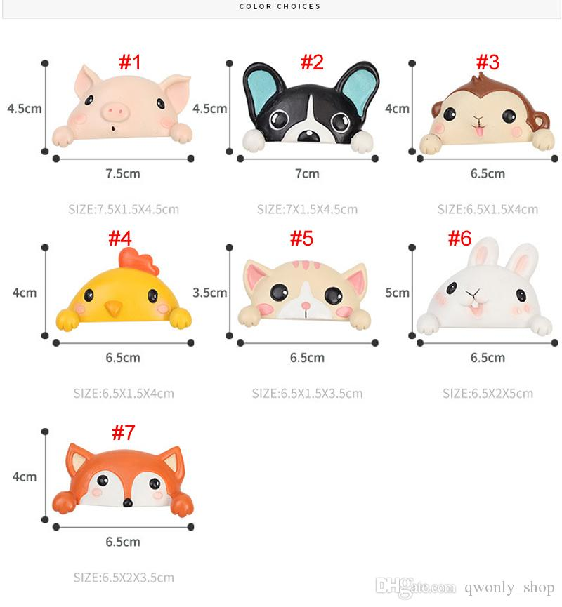 Animal Switch Socket Stickers 3D Fox Dog Pig Cat Wall Panel Stickers Children bedroom Home Decor Bedroom Parlor Decoration