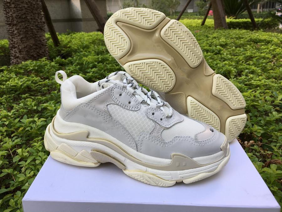 New Triple S Shoes Man/Woman Sneaker High Quality Mixed Colors Thick Heel  Grandpa/Dad Trainer Triple-S Casual Shoes