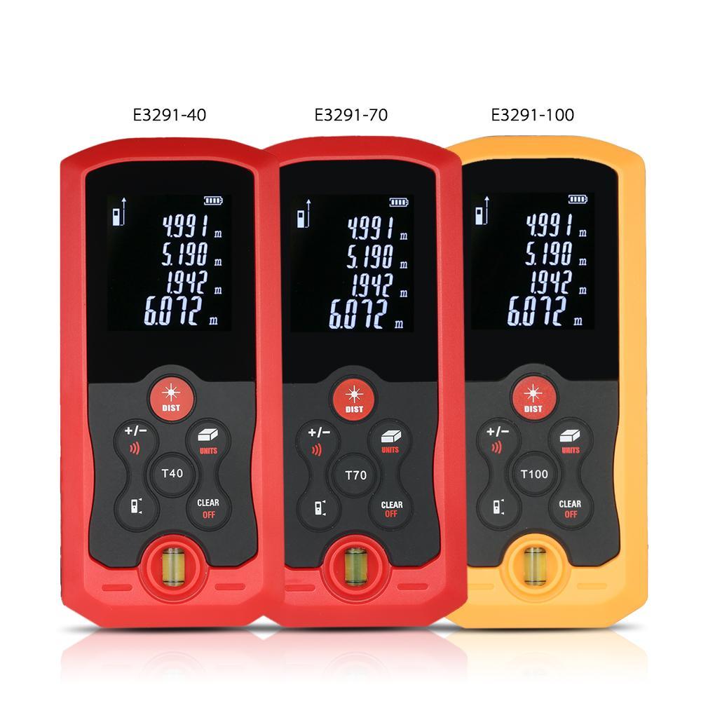 100m Hand-held laser rangefinder Mini construction tools Digital Laser Distance Meter laser tape measure 10 Groups Data Storage