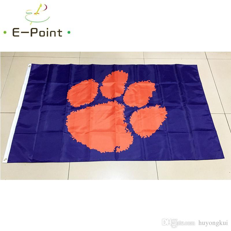 NCAA Clemson Tigers Team Polyester Flagge 3ft * 5ft 150cm * 90cm Flagge Banner Dekoration fliegen Hausgarten Outdoor-Geschenke
