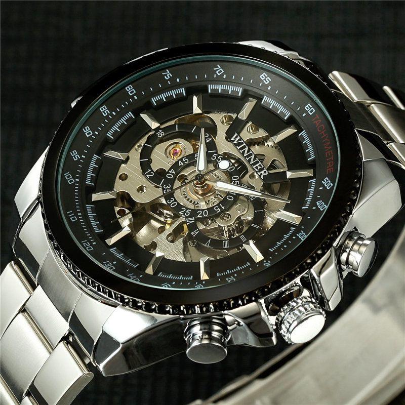 3d62108f16252 2018 Top Brand Luxury Stylish Classic Men S Black Watch Automatic Skeleton  Mechanical Male Wrist Watch Man Relogio Masculino D18100706 Trendy Watches  ...