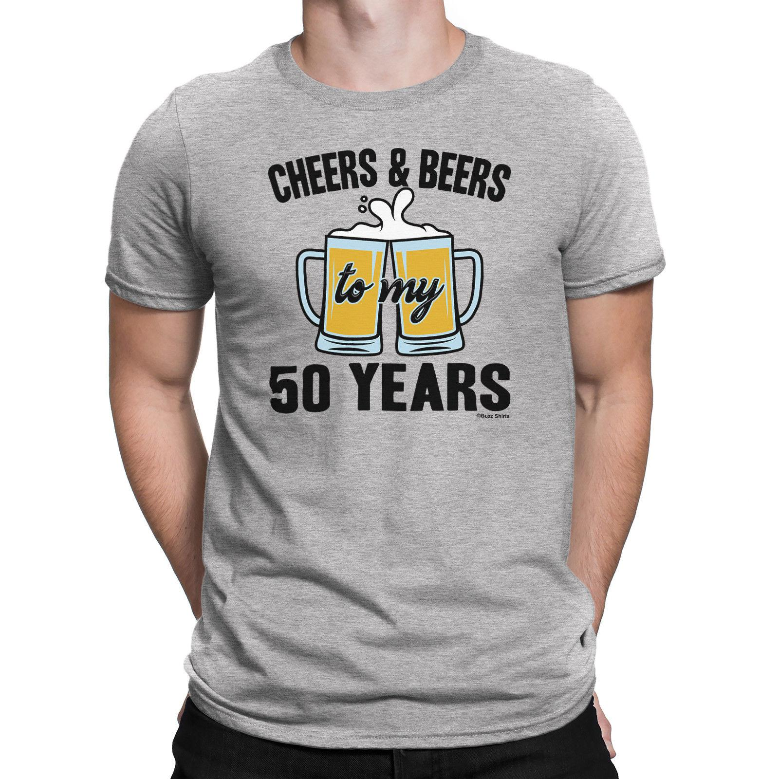 Details Zu Mens 50th BIRTHDAY TShirt CHEERS And BEERS To 50 Years Old Gift Fifty Random T Shirts Poker From Lukehappy14 1296