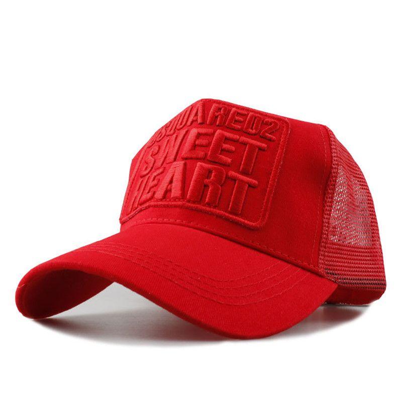 New D2 Embroidery Caps Summer Visors Mesh Sun Hats Retro Baseball ... 4a94f8865cb7