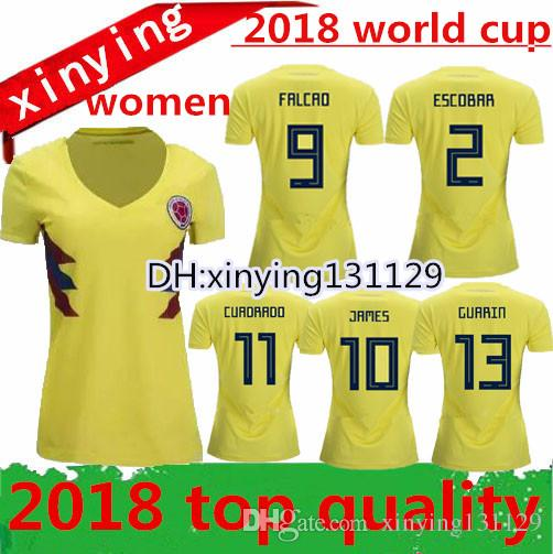 Best The New Colombia 2018 Women Soccer Jersey Home TOP QUALITY 18 19 Away  FALCAO JAMES CUADRADO TEO BACCA Woman Football Shirt Under  13.71  c4dc78a74