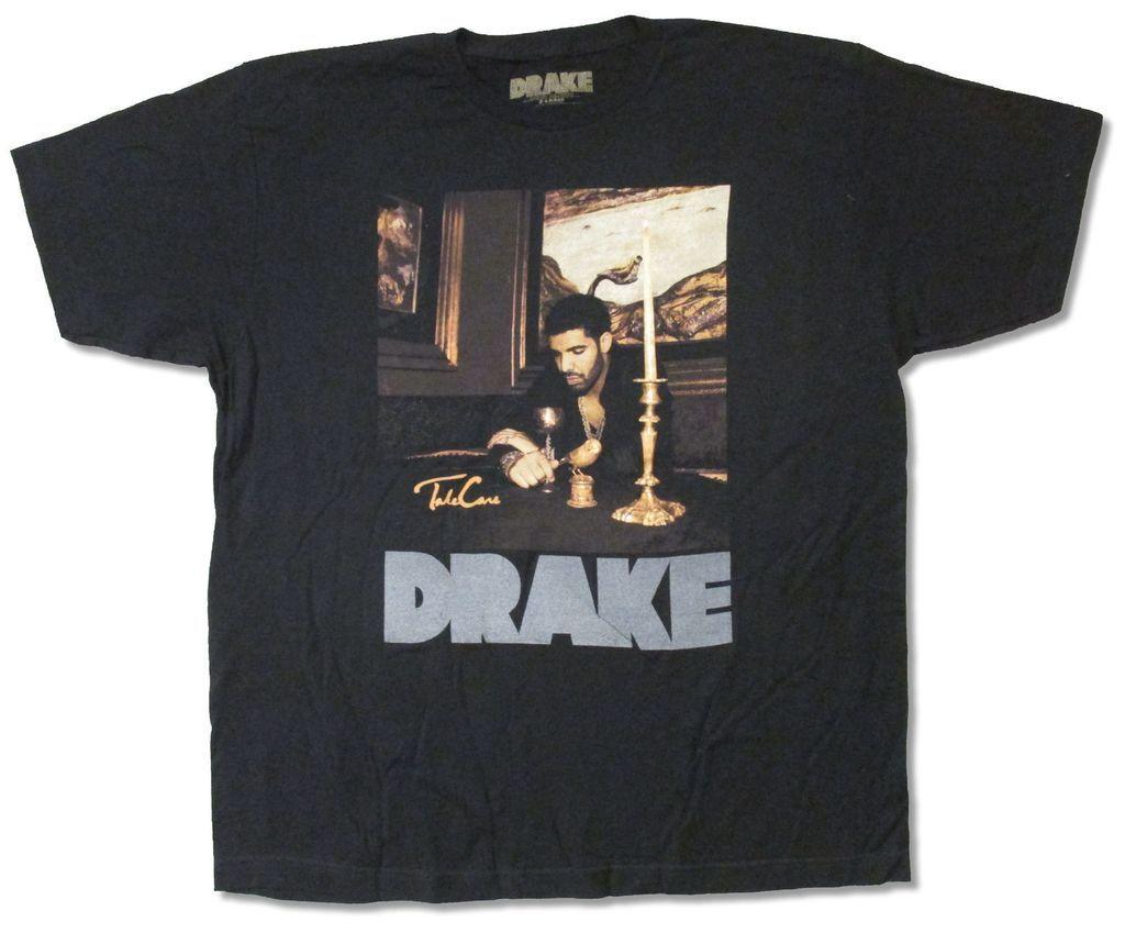 0482909246a Drake Candles Grey Reflective Logo Black T Shirt New Official Adult ...