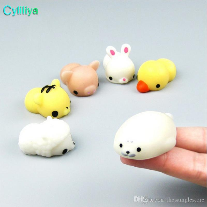Squishy Slow Rising Jumbo Toy Bun Toys Животные Симпатичные Kawaii Squeeze Cartoon Игрушка Мини Squishies Cat Squishiy Модные редкие подарки животным