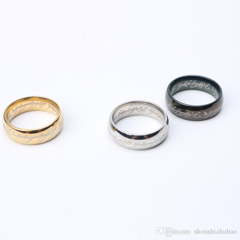 Fashion Jewelry The Lord of The Rings for Men Stainless Steel Ring