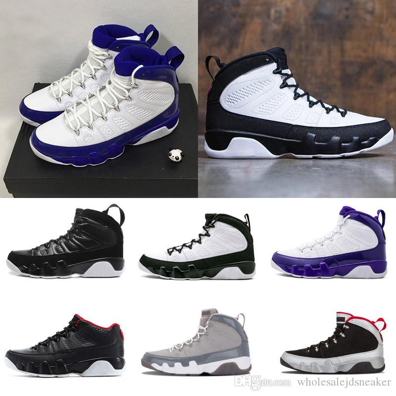 low priced a7392 5b34e 2018 Men Basketball Shoes 9 9s Cool Grey Black White Red Anthracite Barons  The Spirit doernbecher release Sneakers boots size 8-13