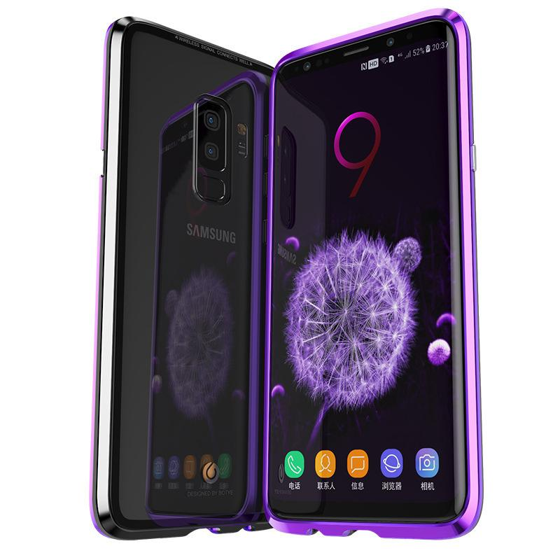 best service 334ec ebdef 2018 New Arrival Fashion Magnetic Phone Case for Samsung Galaxy S9 Galaxy  S9 Tempered Glass Aviation Aluminum High Quality 6 Color Optional