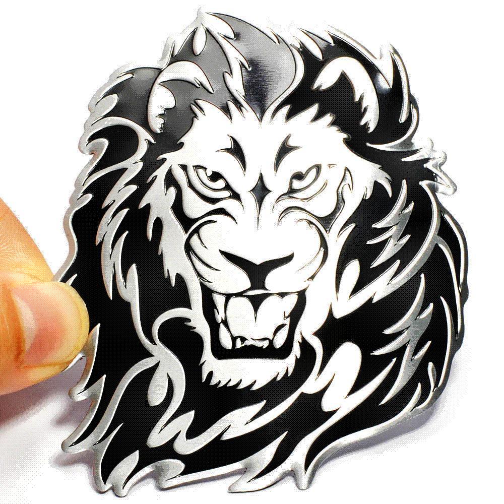 Grosshandel Auto Dekoration Tier Aufkleber Logo Metall 3d Kreative