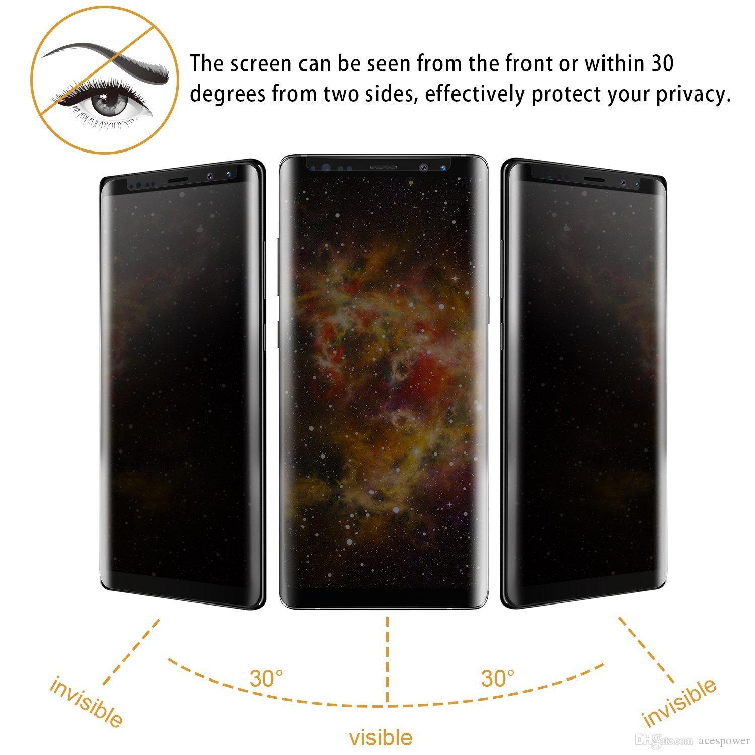 Case Friendly Privacy Tempered Glass 3D For Samsung Galaxy S10E S10 Plus S9 Note 9 8 S8 Plus Note 10 PlusWith Retail Package