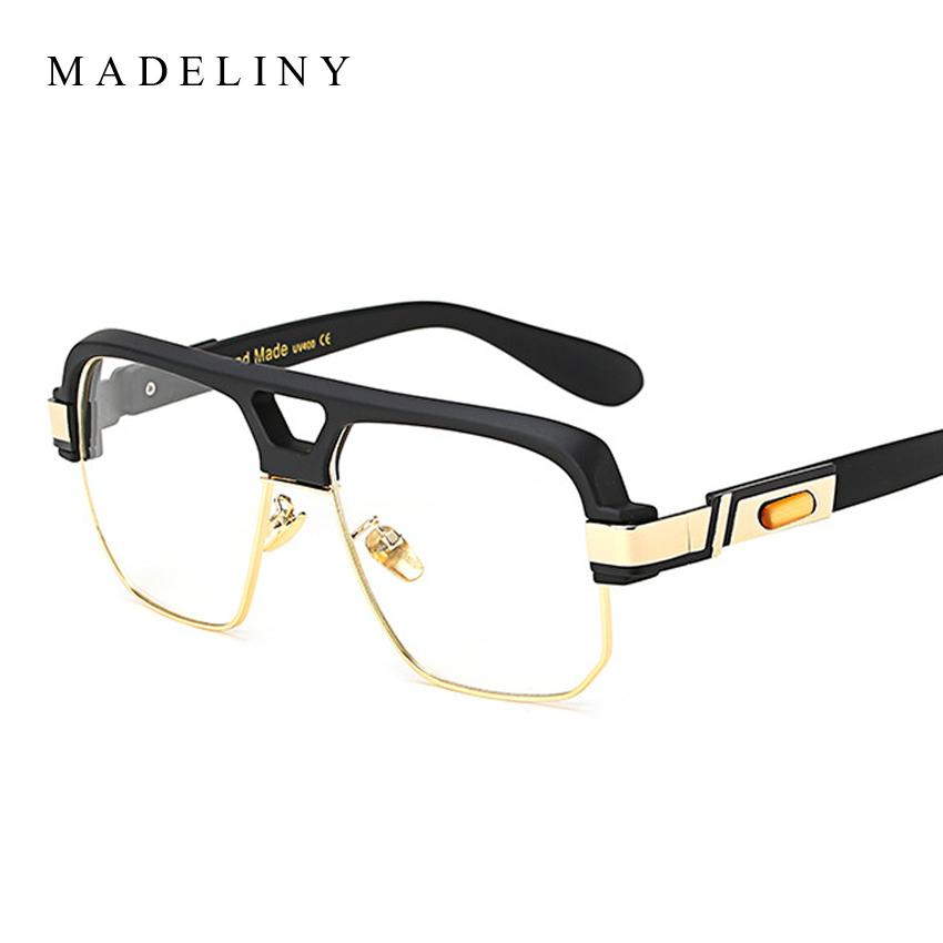 b6a89236808 2019 MADELINY High Quality Square Glasses Frame Women Big Frame Clear Lens  Glasses Semi Women Men Optical Frames MA430 From Value111