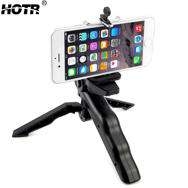 Rotatable Mobile Phone Tripod Stand Holder Handheld Camera Stabilizer Table Tripod Adapter Monopod For Digital SLR DSLR