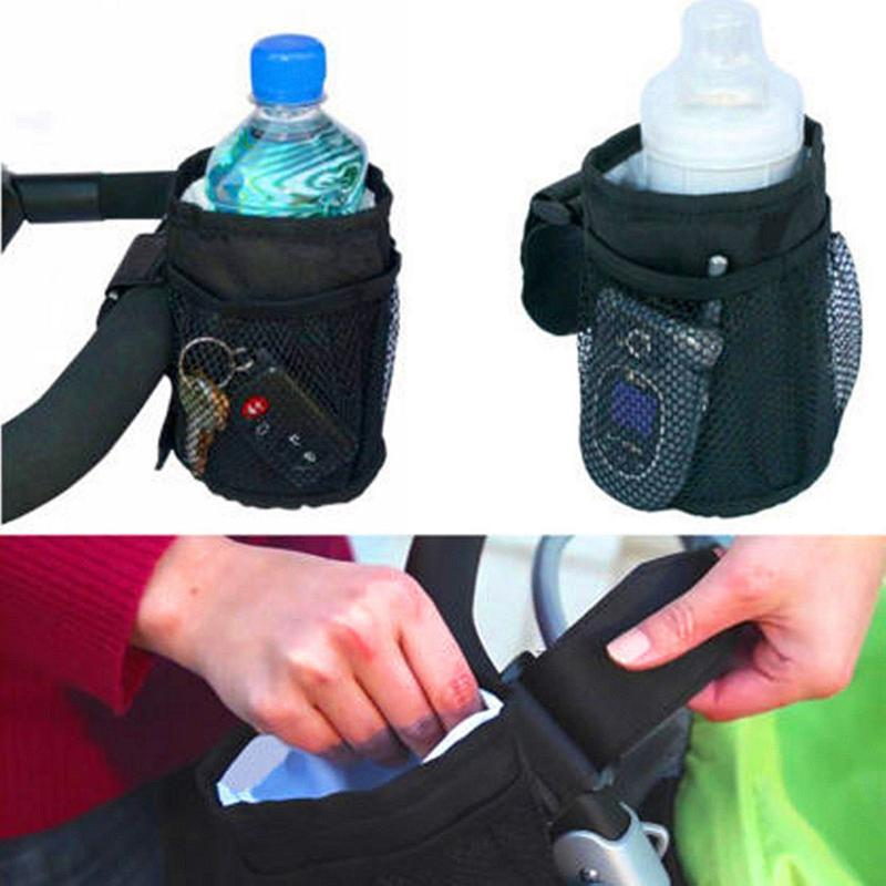 Universal Stroller Insulated Cup Holder Drink Keys Phone Holder Waterproof Design Cup Bag Strollers Buggy Organizer Bottle Bags