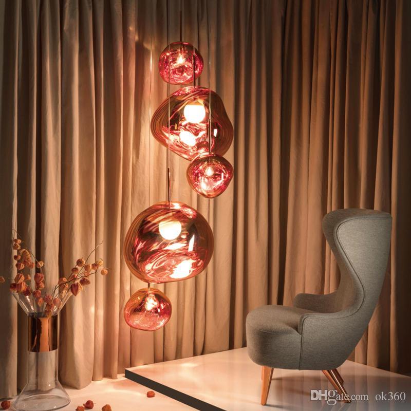 Modern Tom Dixon Melt Pendant Lights Glass Lava Irregular Hang Lamp