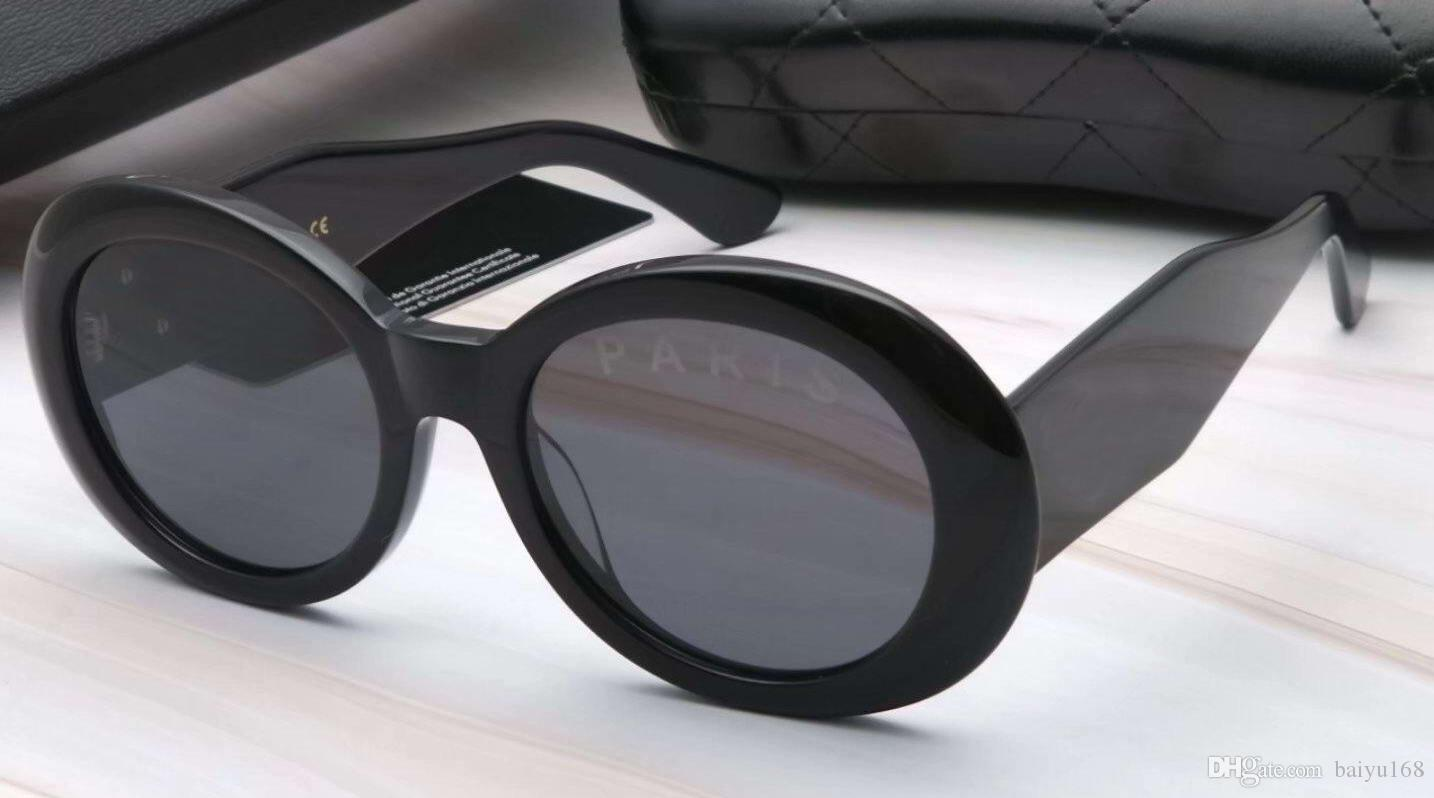 b02034d71d3b Designe 2652 Black Grey Oval Sunglasses Sonnenbrille Fashion Unisex ...