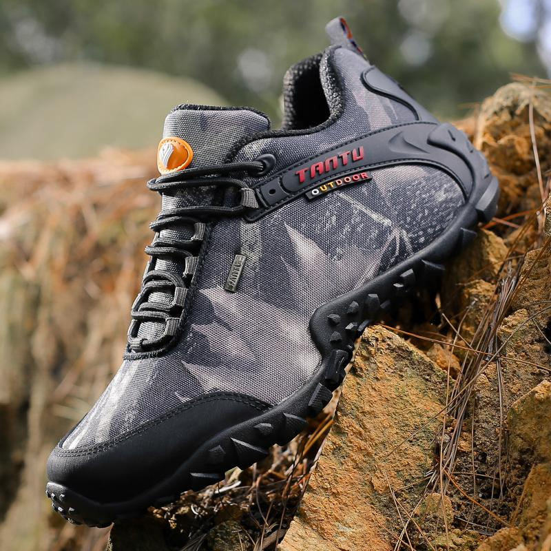 c206b5ce4a98a Mens Waterproof Hiking Shoes Nice Antislip Athletic Trekking Boots  Camouflage Sports Climbing Shoe Man Outdoor Walking Sneakers EU45 46