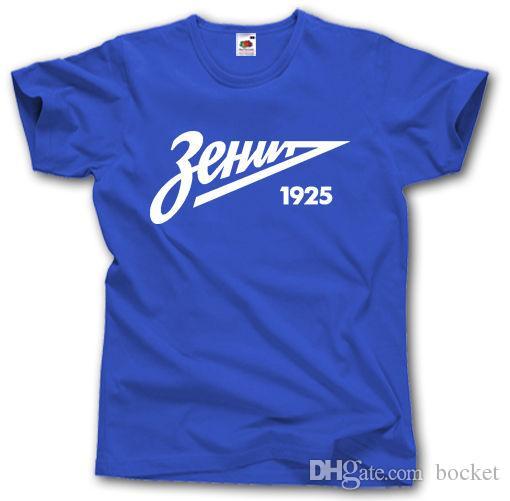 3dfcea2e0b04 ZENIT ST PETERSBURG SHIRT S XXXL RUSSIA FOOTBALL CAMISETA FUTBOL SOCCER  ULTRAS Design T Shirts Online Order T Shirts From Bocket
