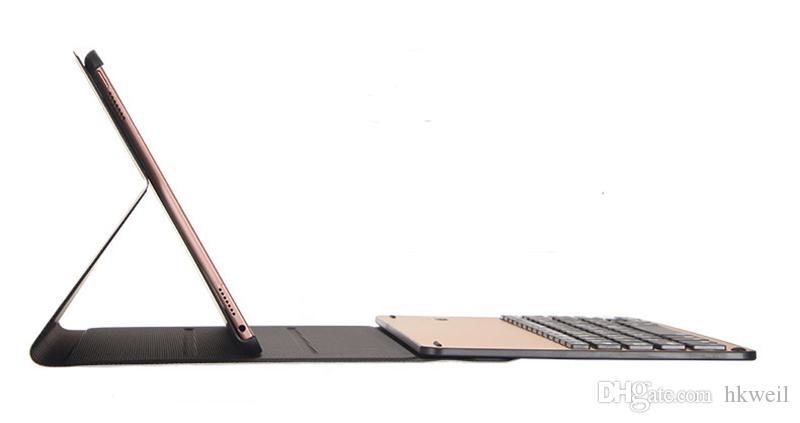 Removível Bluetooth Teclado Estojo De Couro De Alumínio Com 7 cores Backlight Para 2017/2018 iPad Pro 9.7 10.5 Air1 2