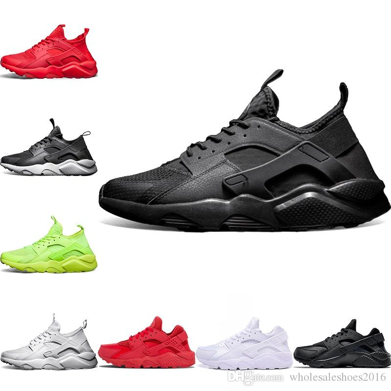 12820fd61ad2 2019 2018 Classical Huarache 4.0 1.0 Running Shoes Men Women Huaraches  Triple Black White Red Breathable Mesh Sports Sneakers Size 36 45 From ...