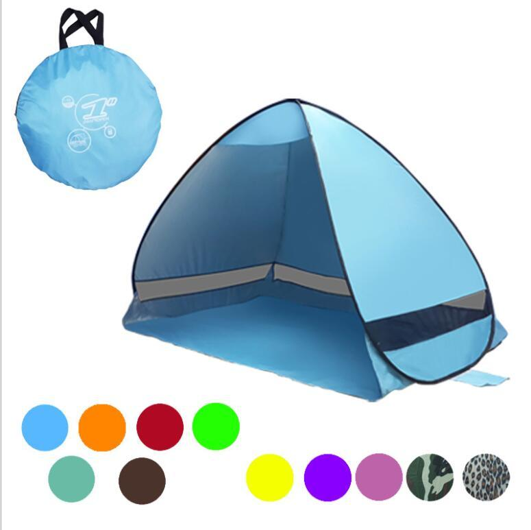 Portable Pop Up Beach Tent Folding Automatic Open Tent Family Tourist Fish Camping Sun Shade tent LJJK1008