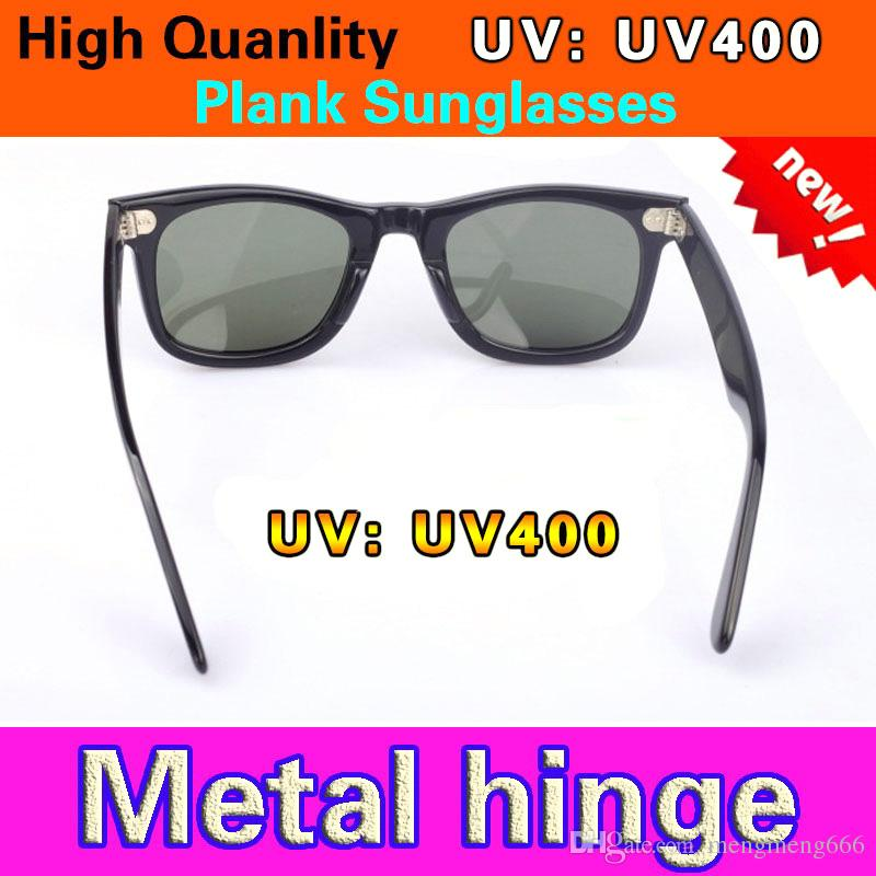 New UV400 protection High Quality Plank black Sun glasses glass Lens black Sun glasses beach sunglasses UV protection sunglasses With LOGO