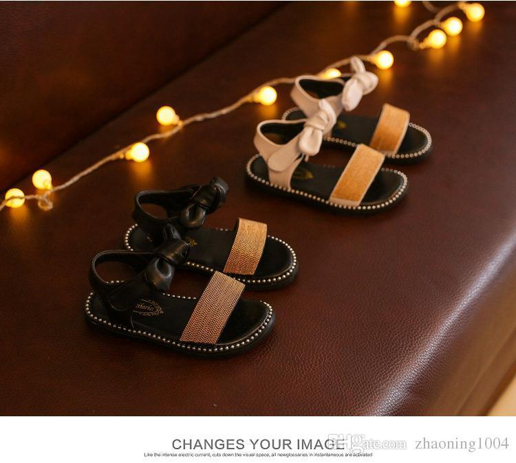 Concepteur D'été Enfants Chaussures Filles Sandales Haute Top Qualité Bébé Fille Sneakers Toddler Chaussures De Plage Pour Enfants Vente