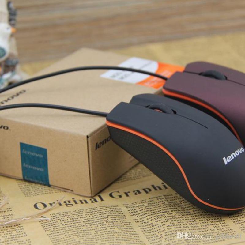 Pronti stock Lenovo M20 Mini Tiny Wired Mouse mouse da gioco USB ottico 3D mouse computer portatile