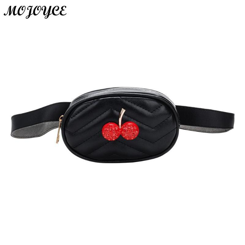 19f4cc59a9e9 Cute Children Waist Packs Girls Fanny Bag Fashion Cherry Chest Bags for  Kids Toy Gifts Baby Wallet Waist Bag Leather Belt Pack