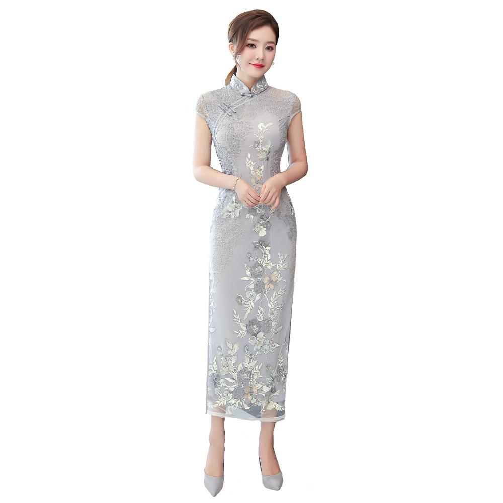 Shanghai Story 2018 New Sale Short Sleeve Long Qipao Dress High Split Lace  Cheongsam Dress Chinese Women s Cheongsams Cheap Cheongsams Shanghai Story  2018 ... 8c54ffc4f962