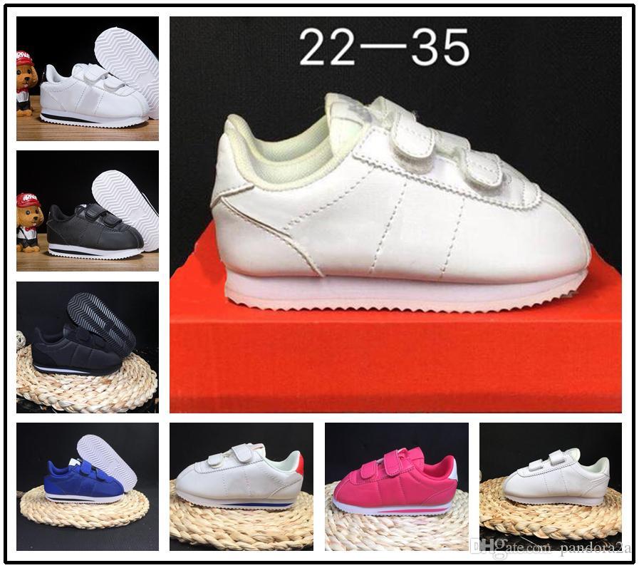 Compre Nike Cortez 2018 Hot Sale Brand Sneakers Niños Zapatos Deportivos  Zapatos Corrientes Para Niños Niños Zapatillas De Deporte Para Niños  Zapatos ... 323de7b38a357