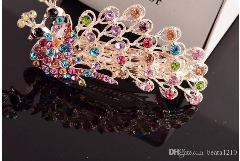 Tienda de joyas para el cabello Pinzas para el cabello Diamantes de imitación del día de San Valentín Barrettes Accesorios para el cabello para mujeres 2018 Head Wrap Headpieces coreanos mezclar