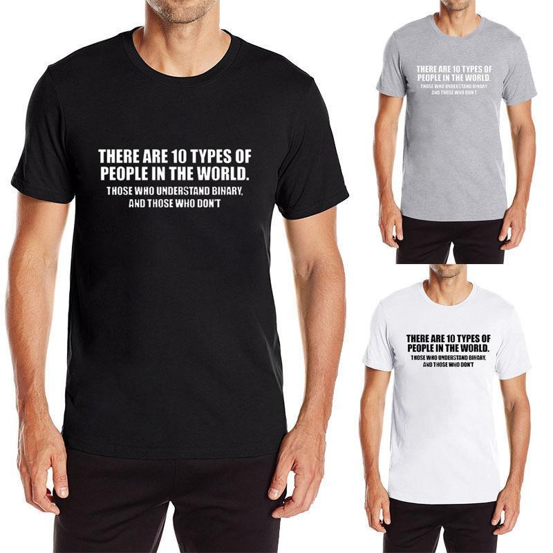5ebe634f2ac3 10 Types Of People In This World Binary Fun Men S Grey Summer Graphic Fun T  Shirt Best Funny Shirts Funny Print Shirts From Amesion89