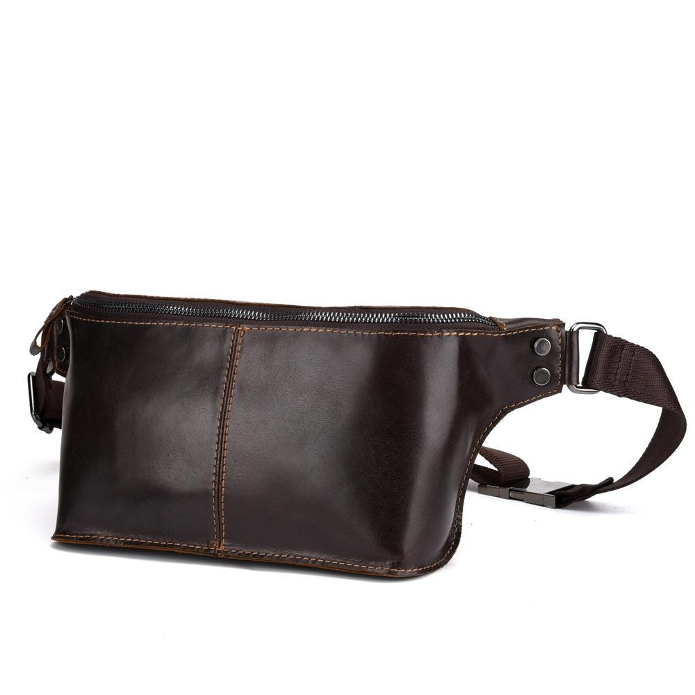 1a6d0b0d9c Men Genuine Leather Hip Bum Waist Bag Crossbody Sling Chest Bags Retro  Leisure High Quality Oil Wax Cowhide Belt Fanny Pack Satchel Bags Cheap  Handbags From ...
