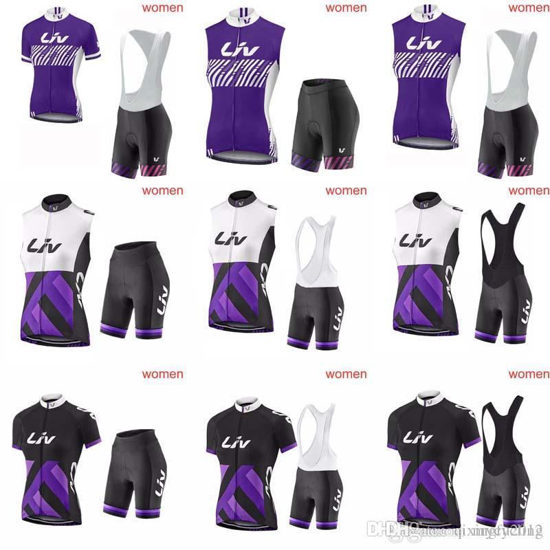 Liv Team Women s Summer Cycling Jerseys Set Cycling Clothing Bicycle  Clothing Cycling Wear Tracksuits Sportwear + Bib Shorts Sets C1235 Liv  Cycling Jersey ... 9b87d17ac