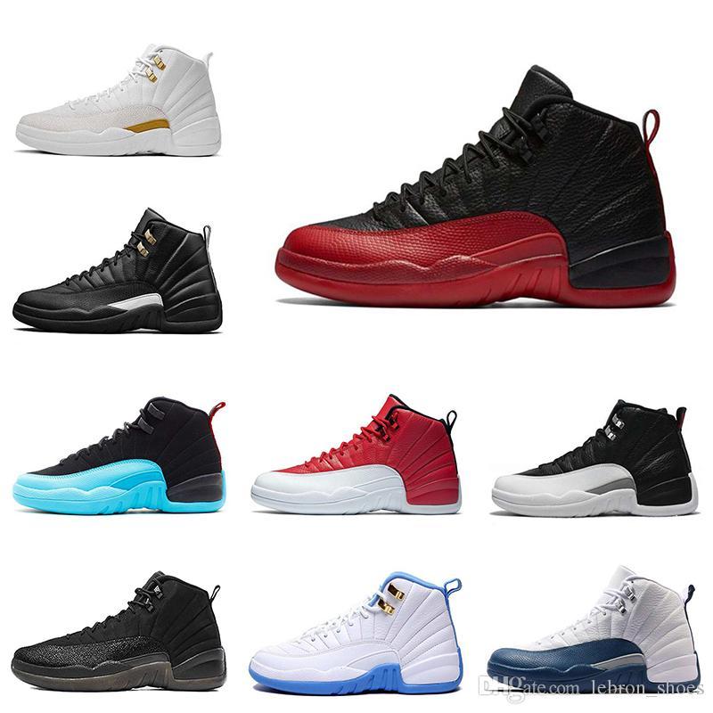 e4a590f266cf4 Compre Nike Air Jordan 12 12s Barato 12 S Zapatos De Baloncesto Para Hombre  Juego De La Gripe El Maestro Taxi Francés Gamma Azul 12 Zapatillas De  Deporte ...