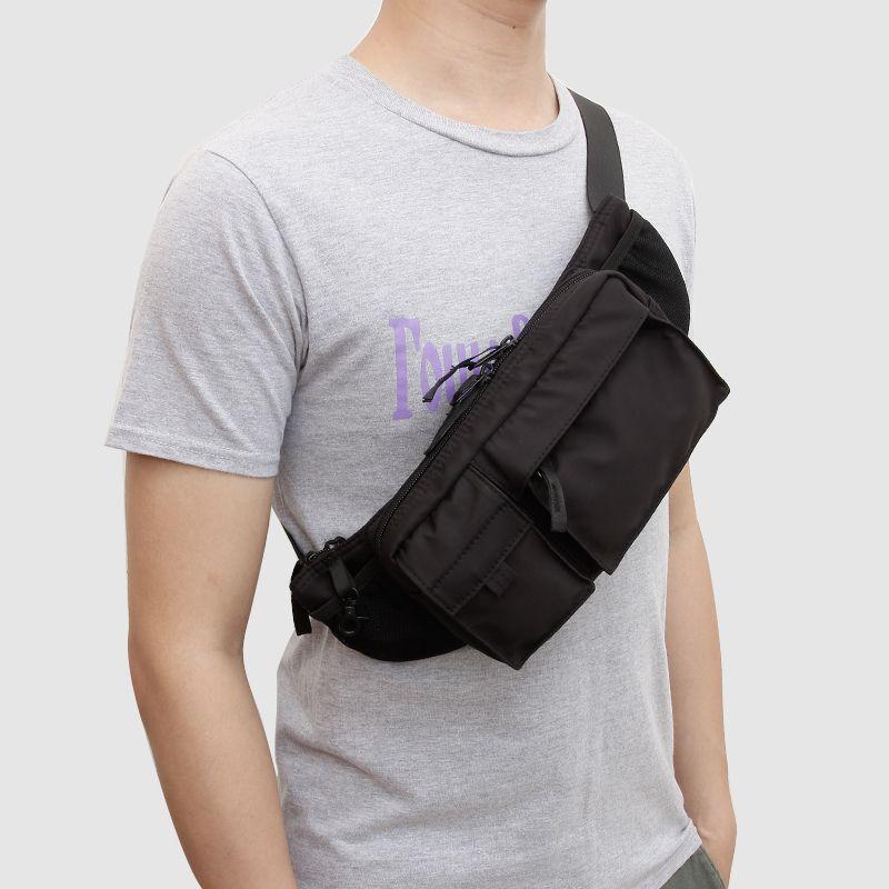 f0737b8408927 2018 Fashion Waist Bag Women Waterproof Fanny Pack Mens Waist Belt Bag  Black Travel Bags Nylon Waist Bags Men sac banane heuptas