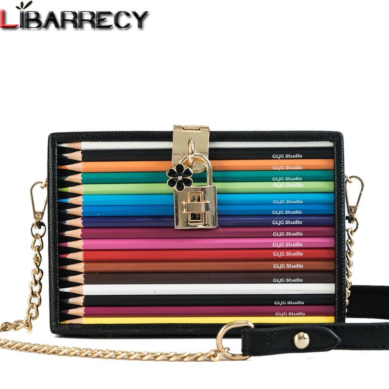 Fashion Color Pencil Shoulder Bag Female Party Mini Box Bag Designer ... d5c8105d458e5
