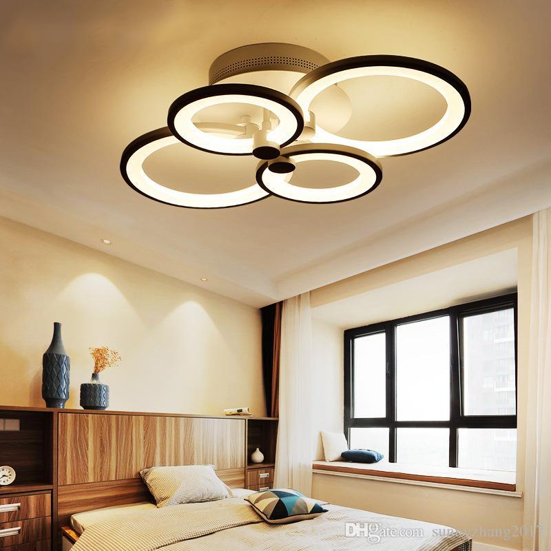 원격 제어 LED 라이트 거실 침실 현대 LED 천장 조명 Luminarias 파라 살라 디밍 LED 천장 조명기구