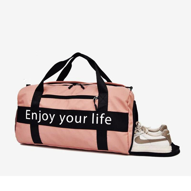 7c87d60cd446 2019 Women Pink Sports Bag Men Black Nylon Waterproof Gym Bag Independent  Shoe Position Luggage Storage Handbag Outdoor Travel Bags From Raisins
