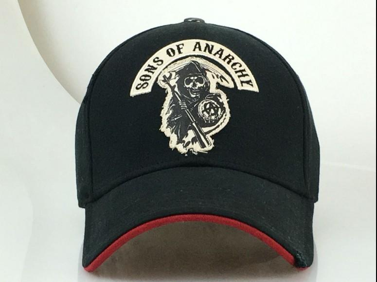 aac6112f Fashion SAMCRO Men Cap Cool Black Death Summer Hip Hop Baseball Cap SOA Sons  Of Anarchy For Reaper Crew Fitted Adjustable Si D18110601 Wholesale Hats  Caps ...
