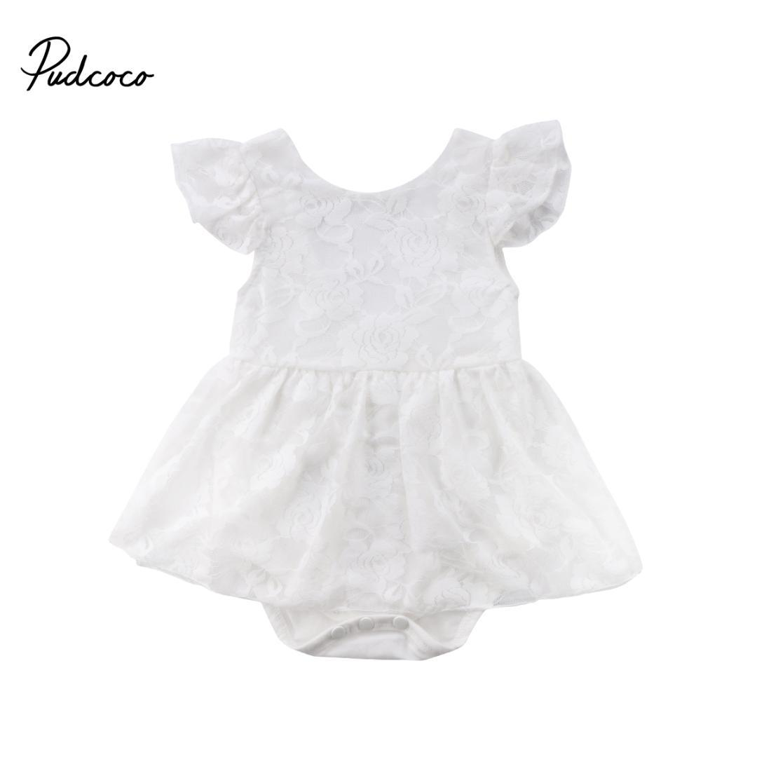cb54ef56a3d 2019 2018 Brand New Newborn Toddler Infant Baby Girls Lace Romper Jumpsuit  Dress Floral Outfits Sleeveless Children Summer Sundress From Benedicty