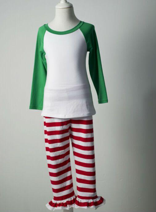 3713336c1fae1c boutique de roupas criança adolescente meninos meninas pijamas de inverno  vermelho verde roupa pjs stripe pijamas Sleep Wear natalícia crianças