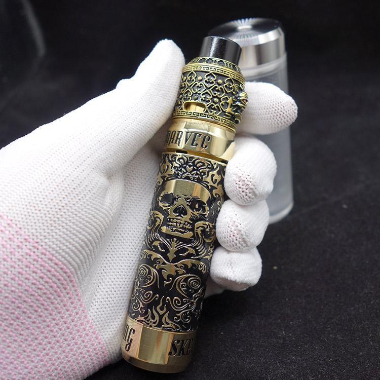 Electronic Cigarette Kit Brass Pirate King RDA With Skeleton King Kong  Mechanical Mod For 18650 Battery Vapor Ecig