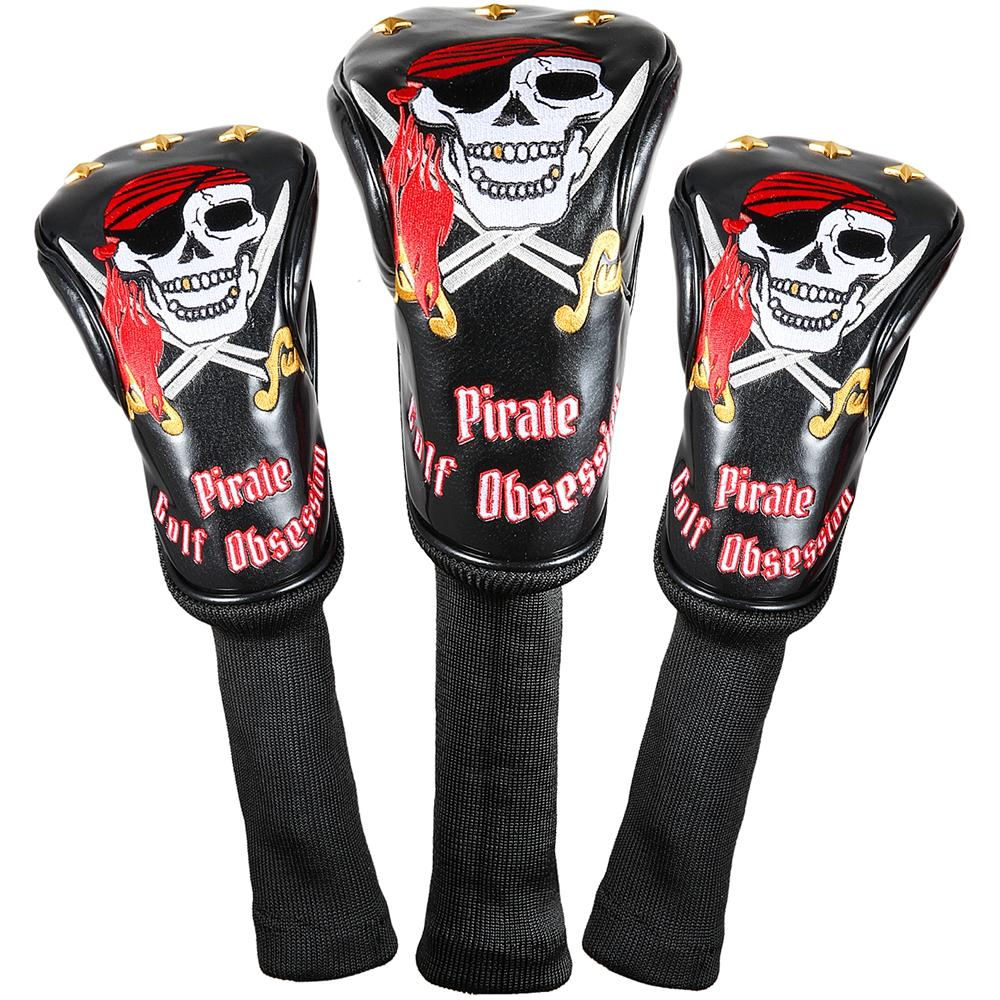 4d805a05fc8 2019 Siranlive Pirate  1  3  5 H Golf Wood Headcovers 460CC Driver Fairway  Wood Hybrid PU Leather Head Covers Set From Booni