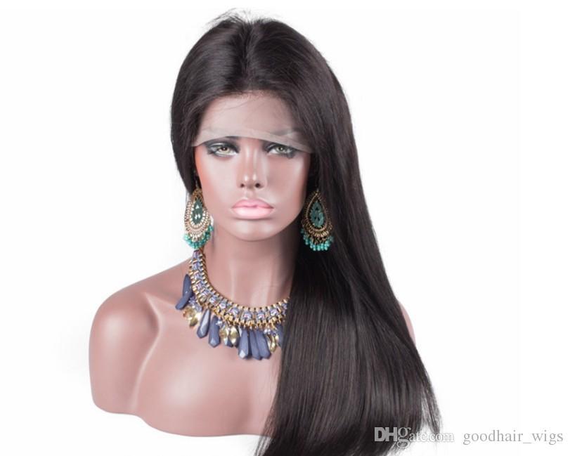 Heißer Verkauf Seidige Gerade Perücke Simulation Menschenhaar Volle Gerade Perücken Natürliche Farbe Perücke Für Schwarze Frauen Auf Lager