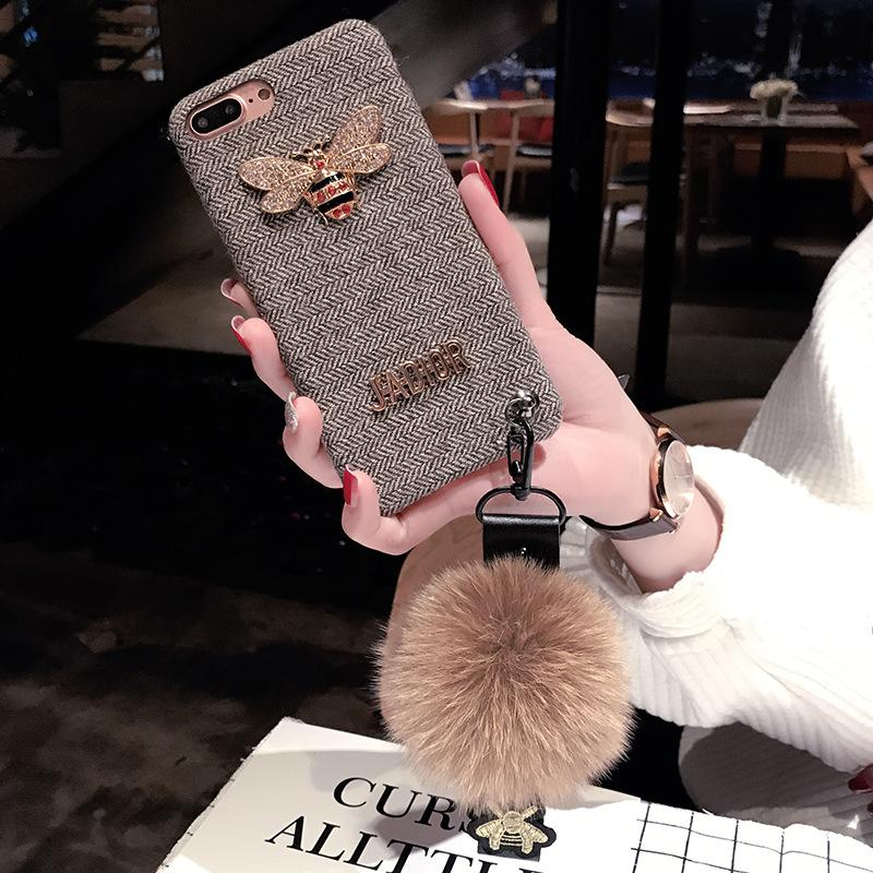 2018 New Arrival Hot Sale TPU Flannel Case for IPhone X 6/6S 6plus/6S Plus 7/8 7plus/8plus Wholesale Fashion Brand Phone Case 2 Styles
