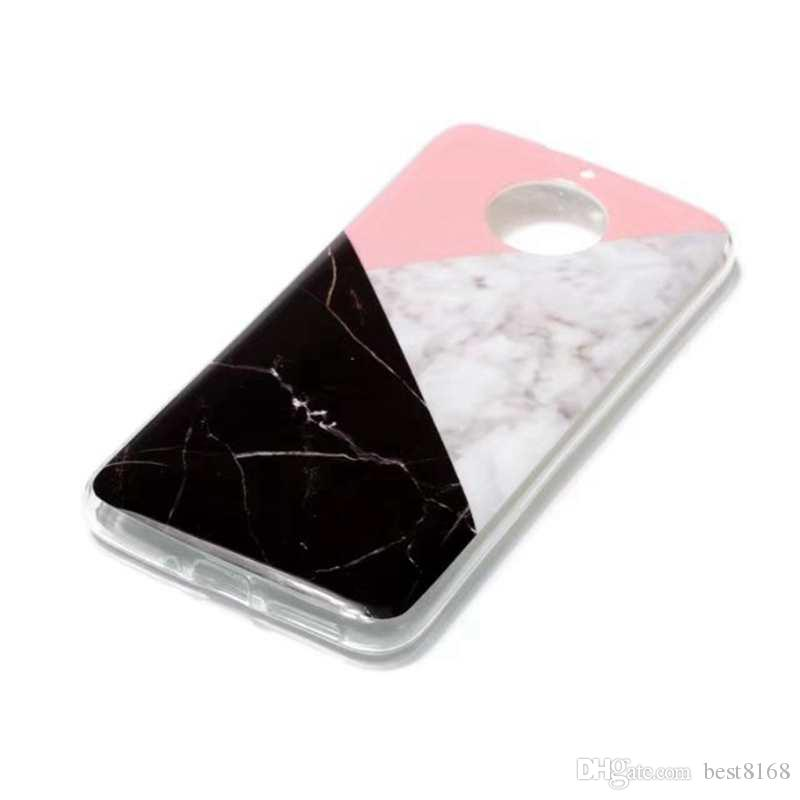 Marble Soft TPU IMD Case For Moto G6 Plus Galaxy A8 2018 For Sony L1 l2 Rock Flower Silicone Gel Stone Hybrid Cover Cell Phone Skin 2018