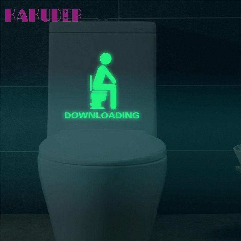 KAKUDER Banyo Aydınlık Tuvalet Sticker Floresan Duvar Sticker Çıkarılabilir Sticker u70228
